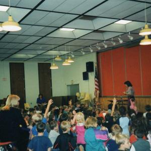 Performing at a school in Plymouth MA